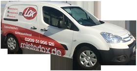 Schlüsseldienst Gelsenkirchen - mr. Lox Kastenwagen